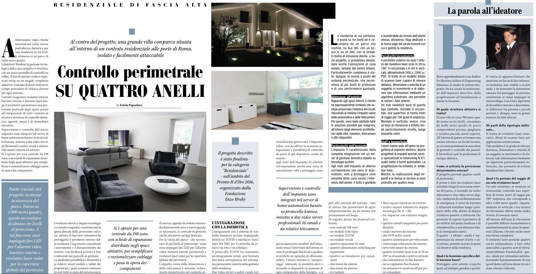 Sicurezza Magazine _ Engineering Solutions - Villa Olgiata, Roma