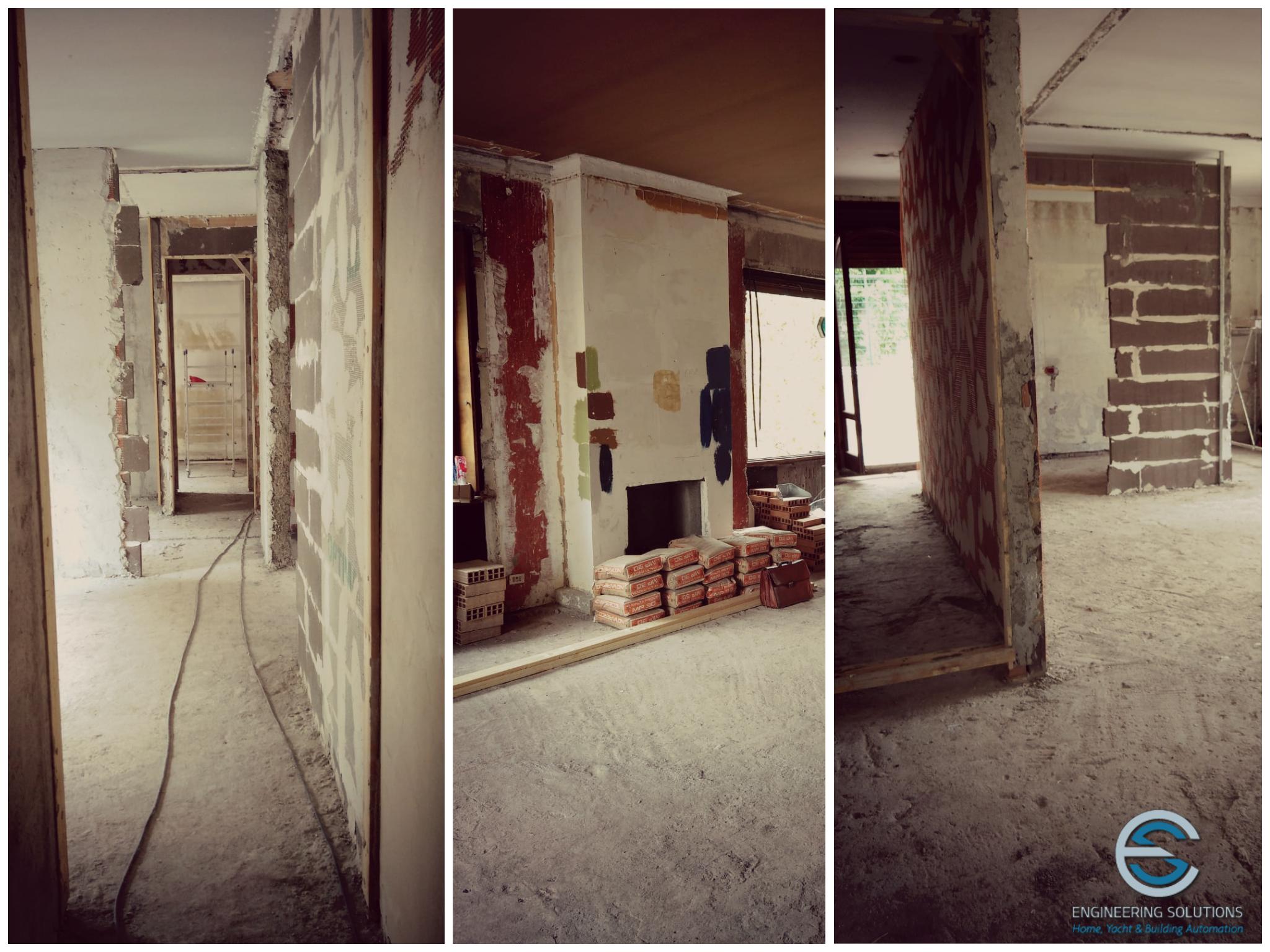 Residenza privata, Roma Parioli - inizio cantiere